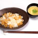 たけのこ寿司とかき玉汁