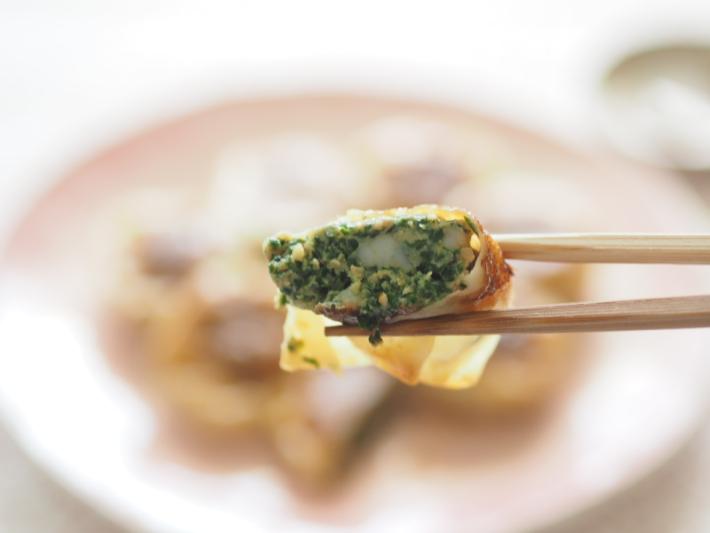 海老入りニラ饅頭