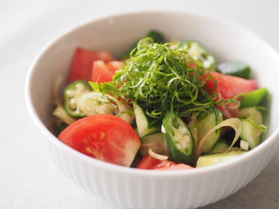 夏野菜のごま油和え