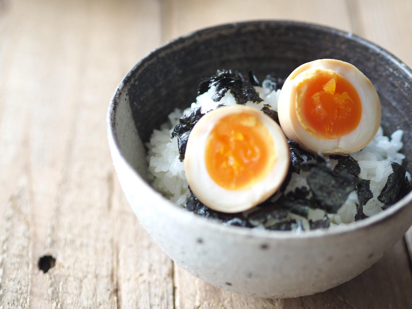 味付け卵丼
